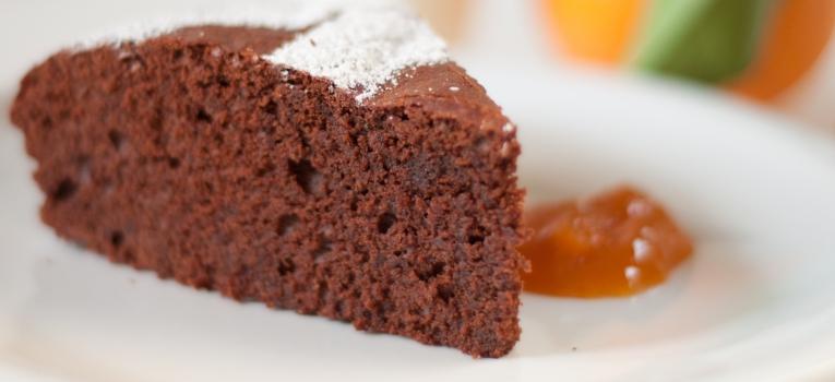 bolo de chocolate e abobora