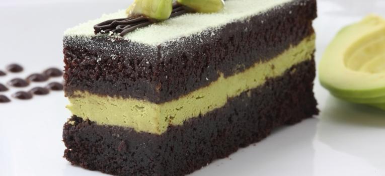 brownie de chocolate e abacate