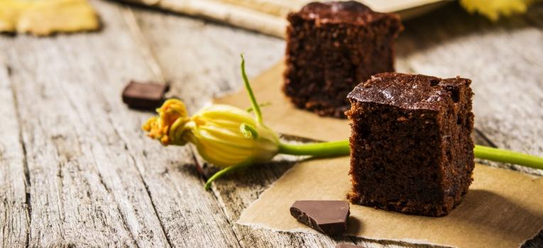 brownie de chocolate e courgette