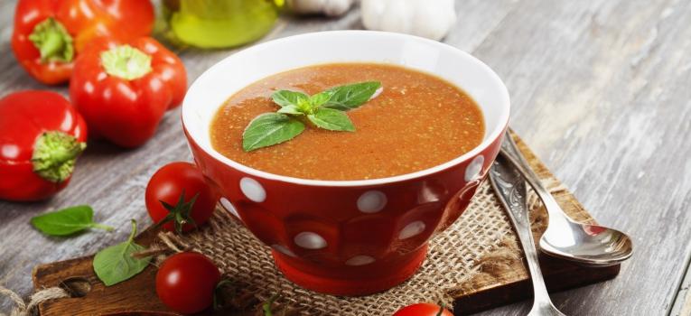creme de courgette e tomate