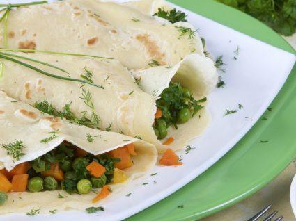 Receitas de crepes de legumes