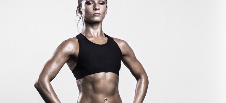 Atleta corpo tonificado