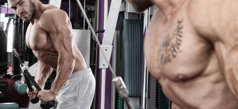 extensao de triceps com cabo