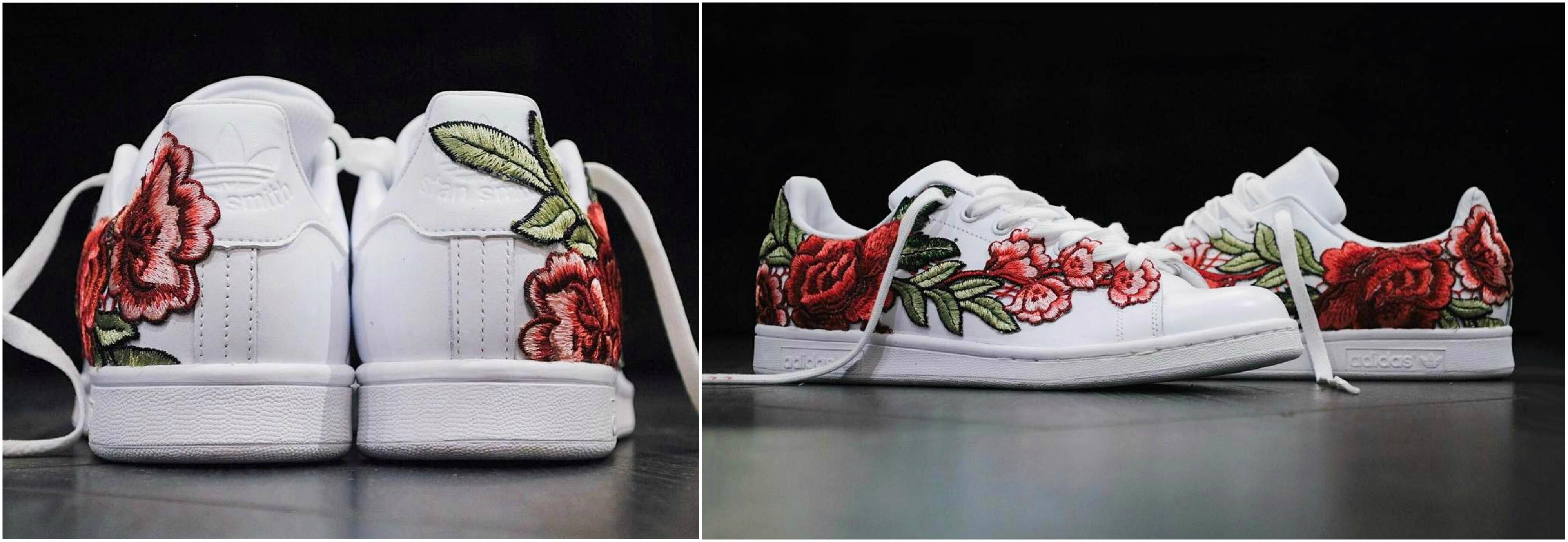 Adidas lança os novos Stan Smith Flowerbomb