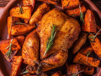 4 Receitas de frango com batata-doce saudáveis