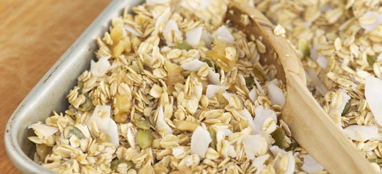 granola de coco e cenoura