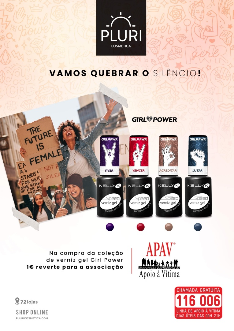 pluricosmetica lanca campanha a favor da APAV