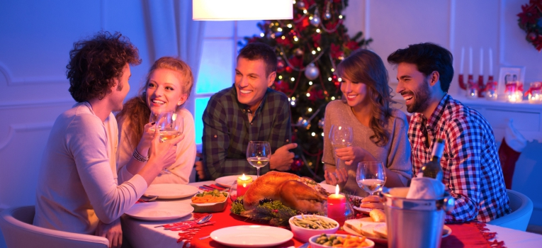 jantar em casa de passagem de ano