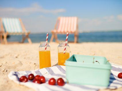 Exemplos de lanches que não deve levar para a praia