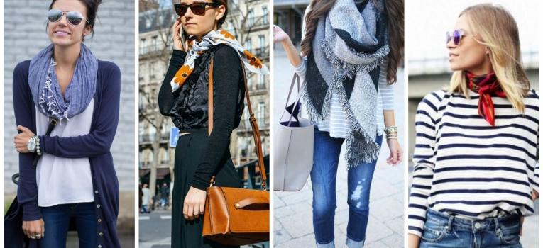 casaco de manha, encharpe e lencos