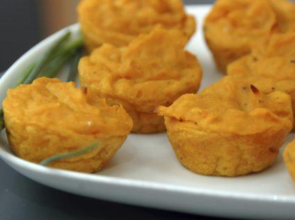 5 Receitas de muffins de batata-doce
