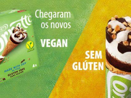 Gelados Olá para todos: opções vegan, sem glúten, sem lactose e com poucas calorias