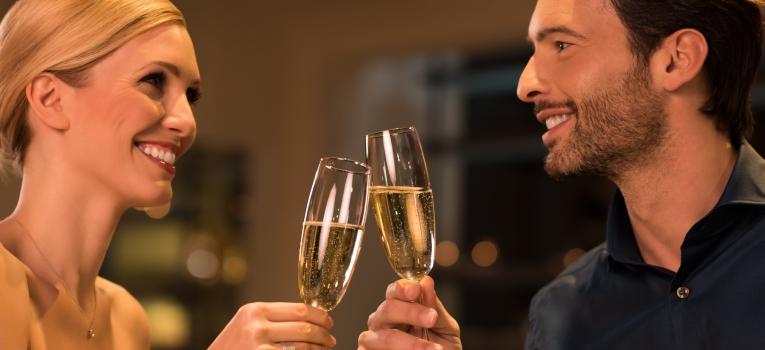 passagem de ano num restaurante romantico