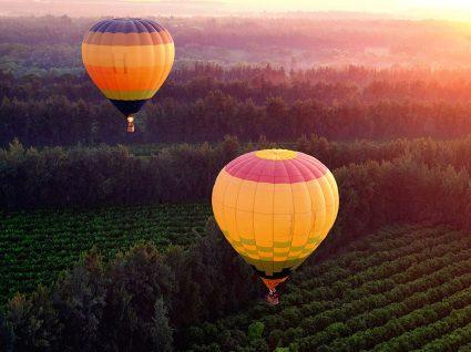 Onde fazer um passeio de balão de ar quente