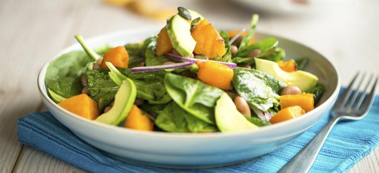 Salada de agrião com manga