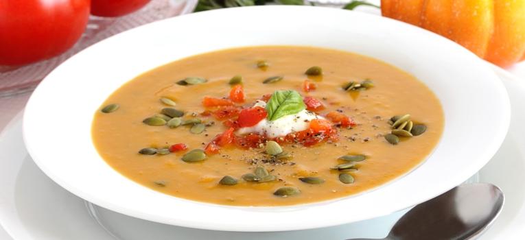 sopa de abobora aipo e tomate
