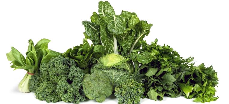 vegetais verde escuro