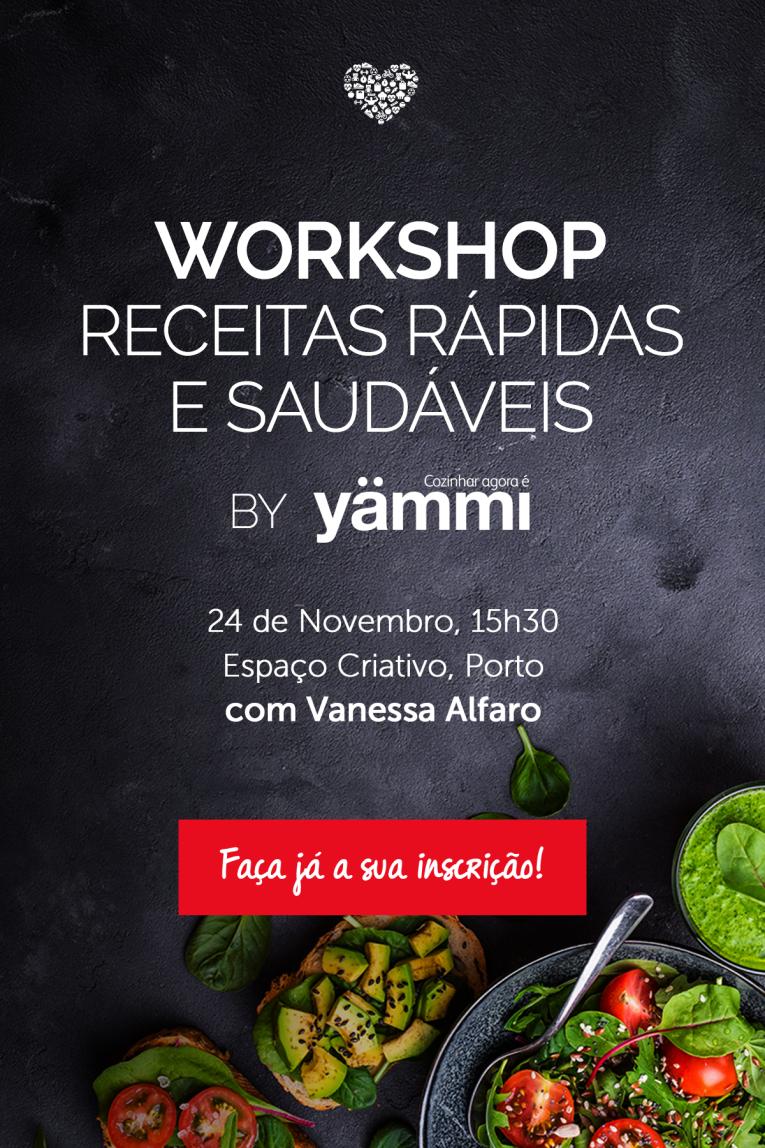 workshop receitas rapidas e saudaveis