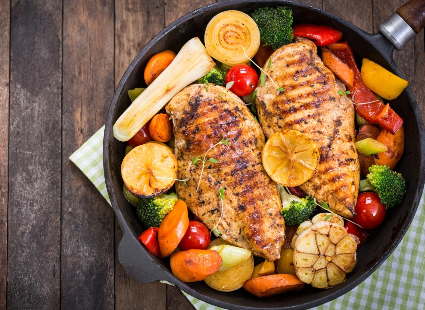 Bifes de frango com alho