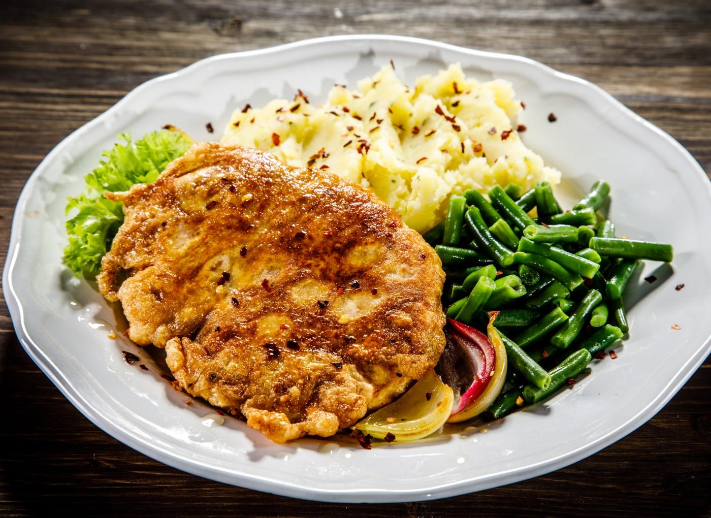 Bifes de frango fritos