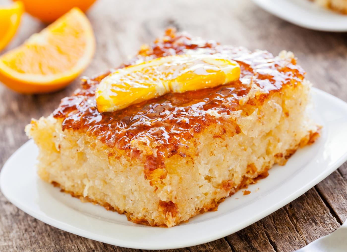 Receita de  bolo de canela simples com laranja
