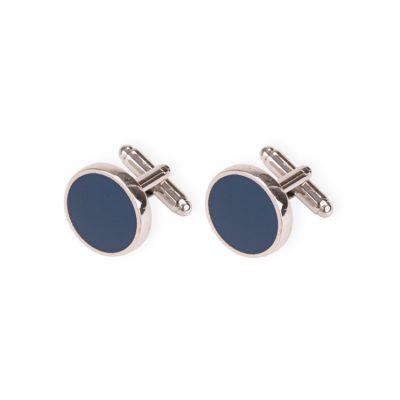 botões de punho azuis