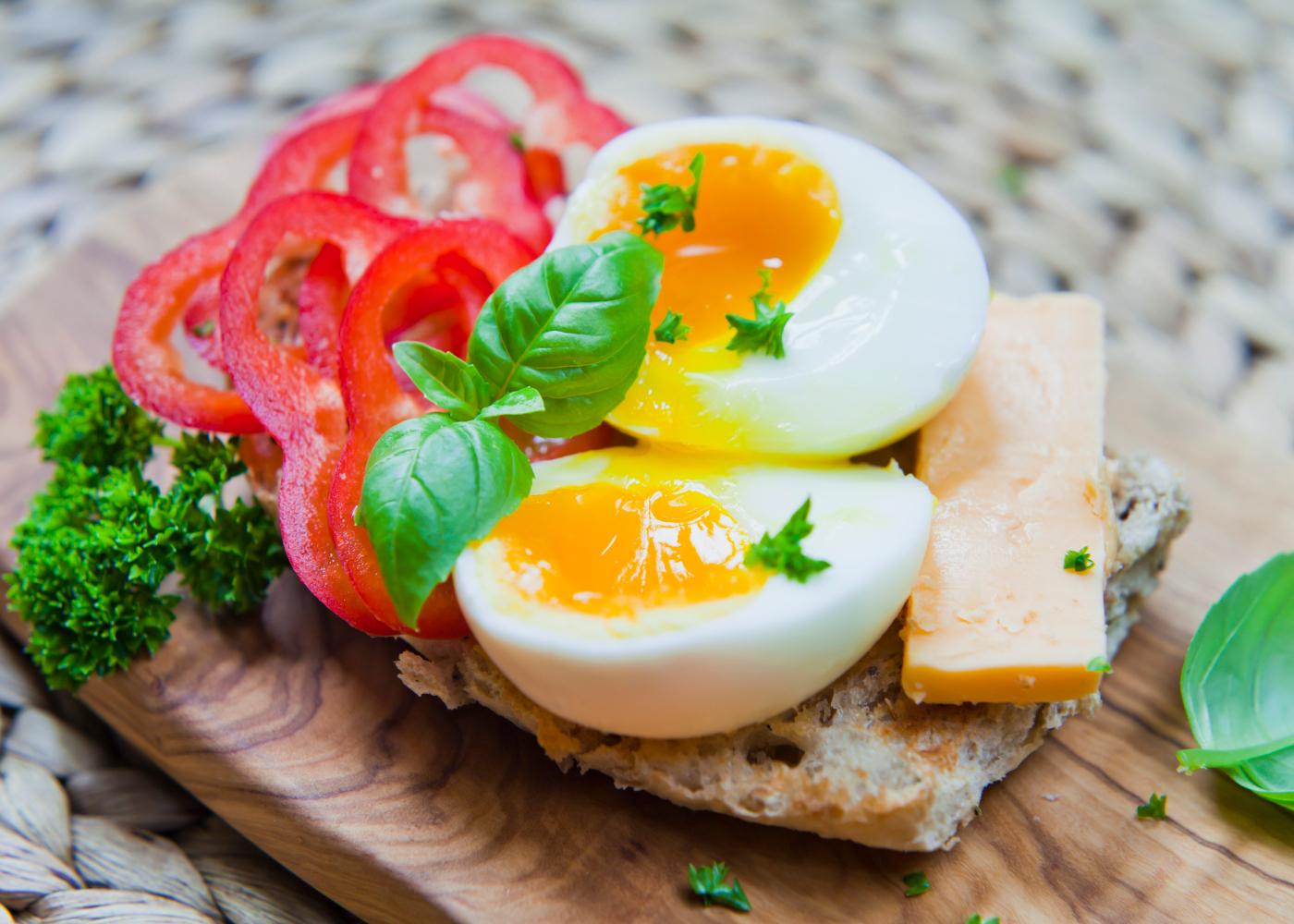 ovos escalfados