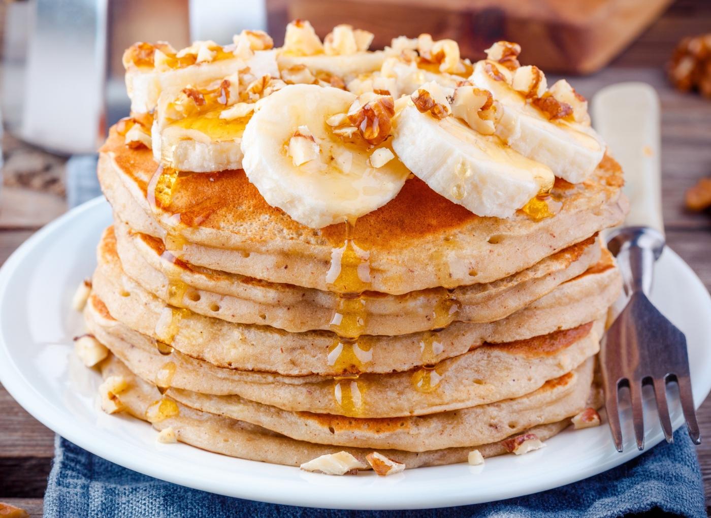 panquecas de banana e aveia proteicas