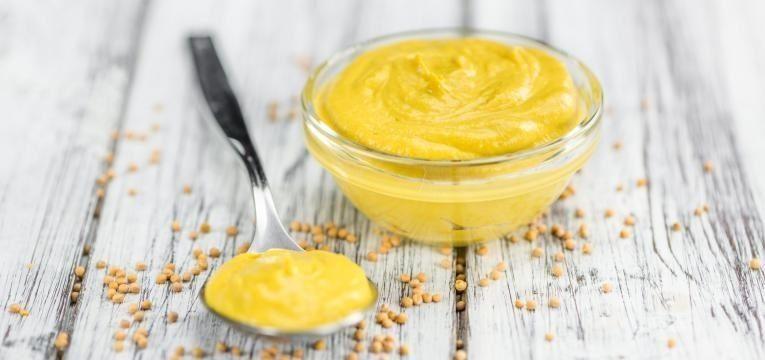alimentos com gluten molho de mostarda