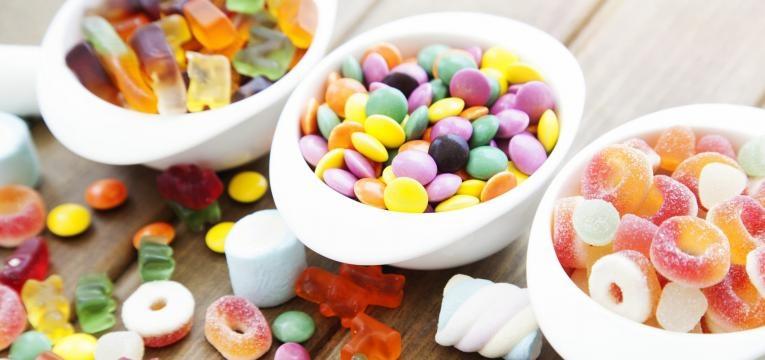alimentos com gluten doces diversos