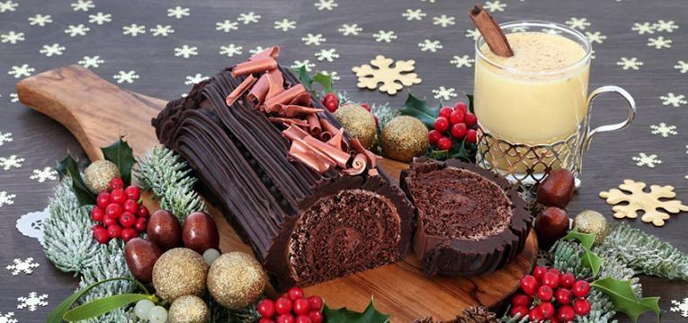 Doces de Natal sem glúten: tronco de chocolate