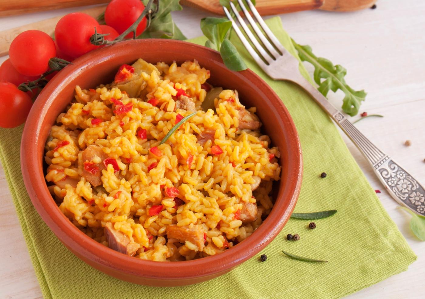 arroz de frango com tomate
