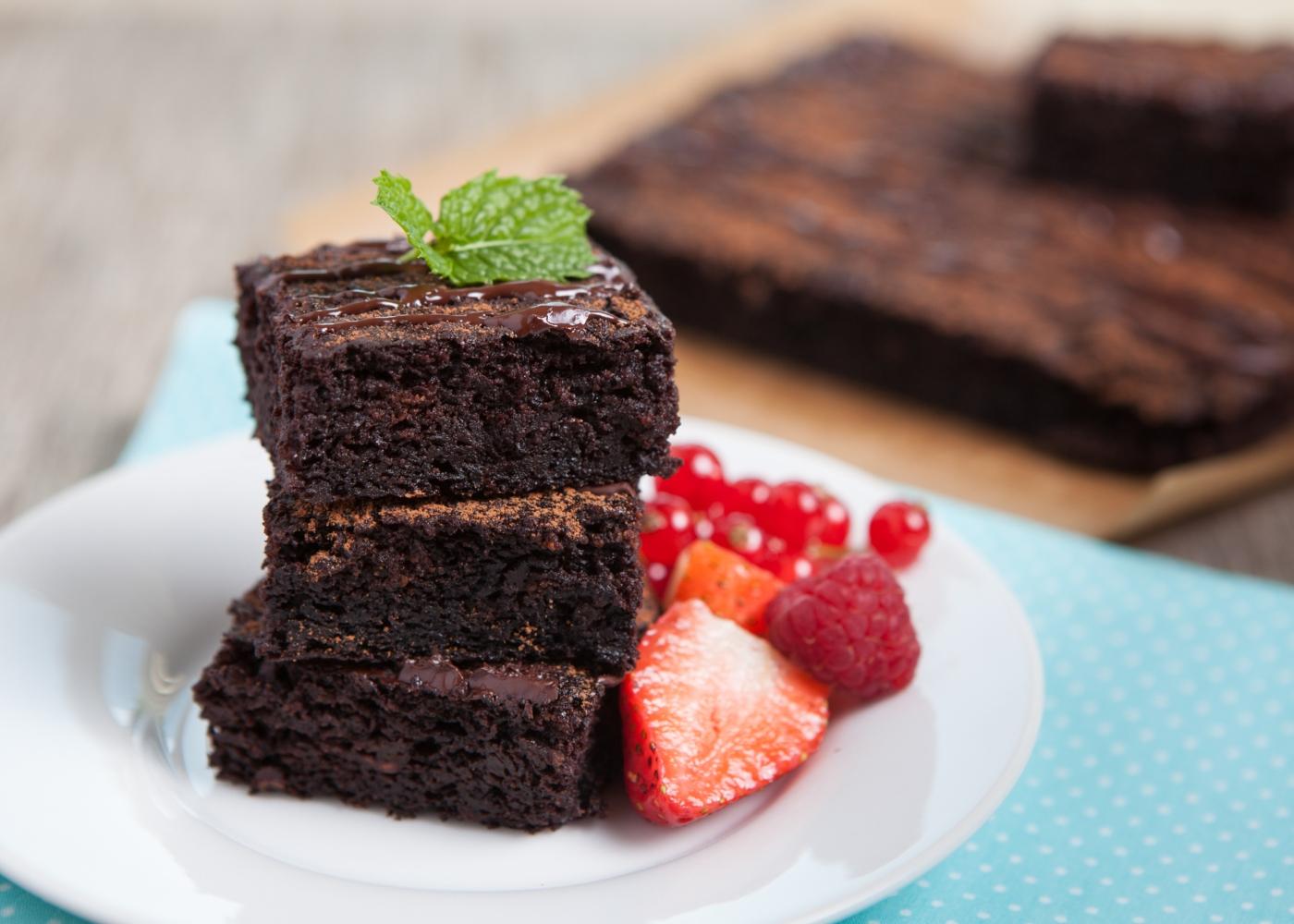 Bolo de chocolate e batata-doce sem farinha