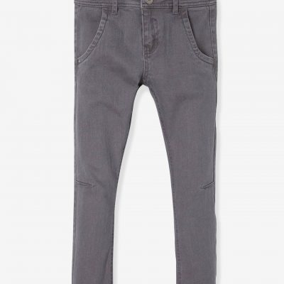 calcas skinny cinza para menino