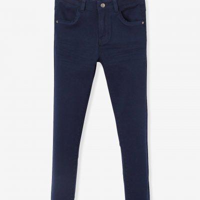 calcas slim para menina azul escuro