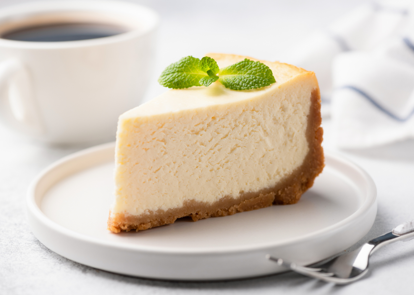 fatia de cheesecake simples