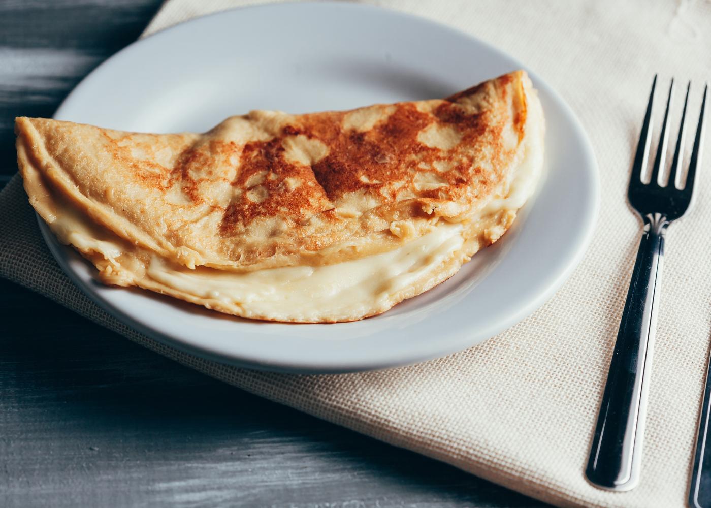 crepioca de polvilho azedo e queijo