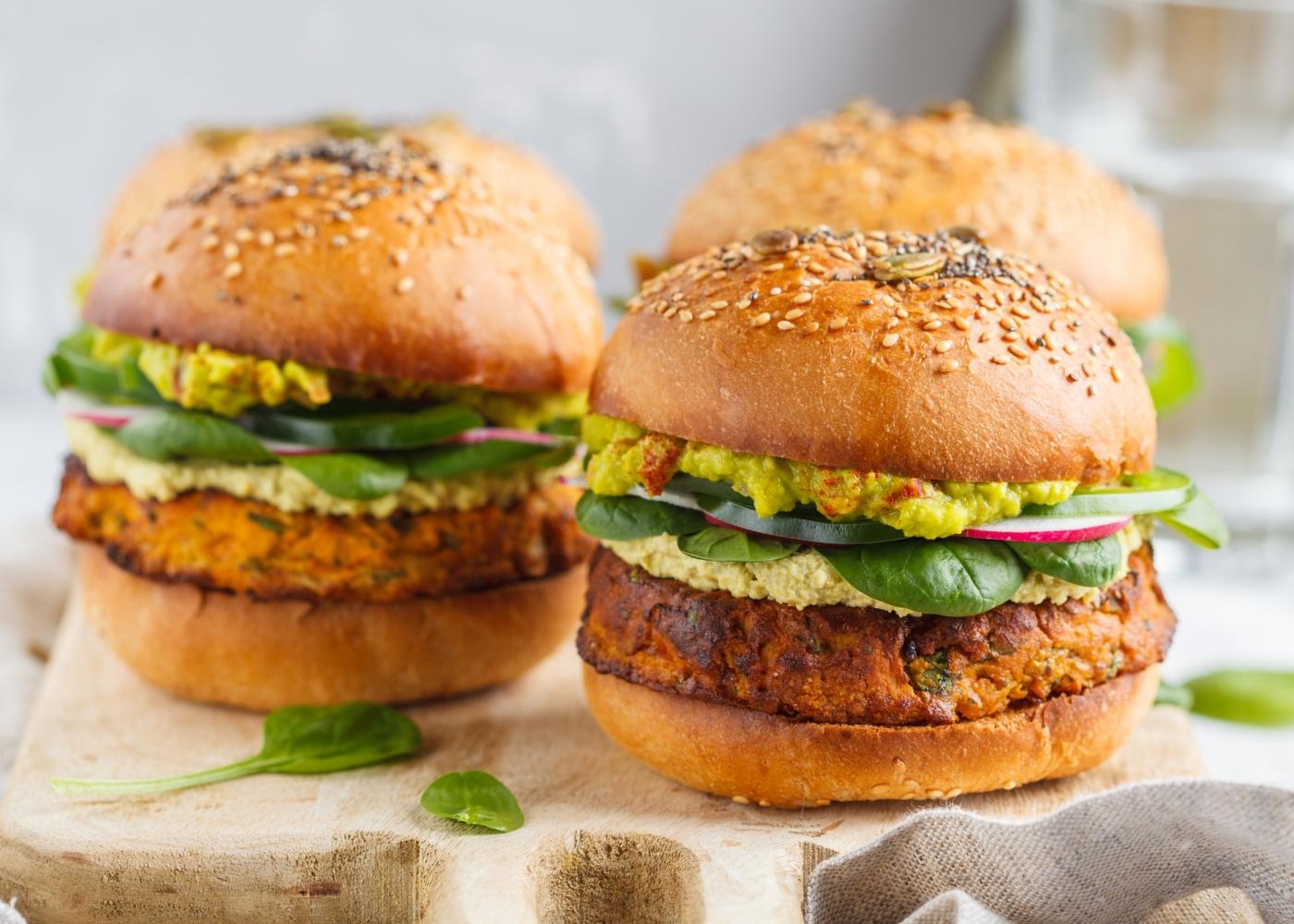 Receitas de legumes para crianças: hamburgueres