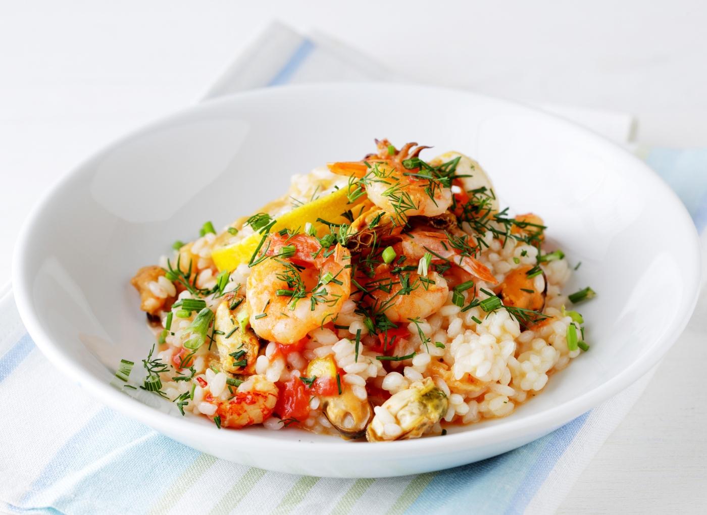 legumes salteados com camarão