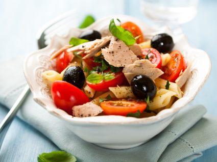 Almoços saudáveis: massa de atum