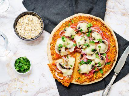 pizza com massa de aveia: 3 delicias saudaveis