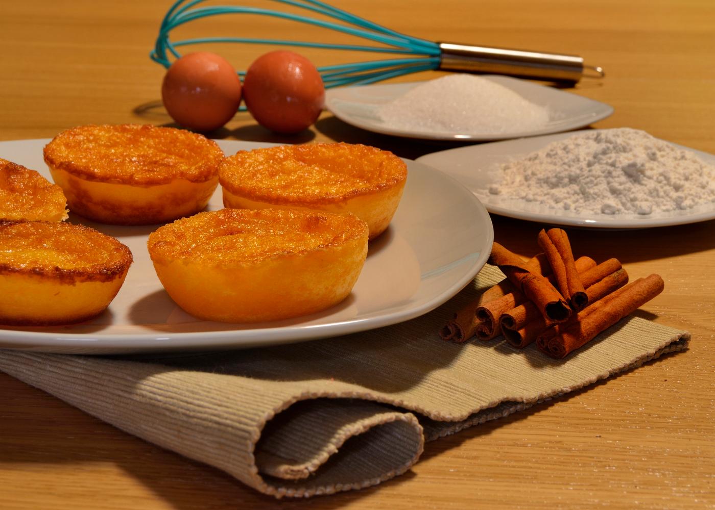 queijadas de cenoura no prato