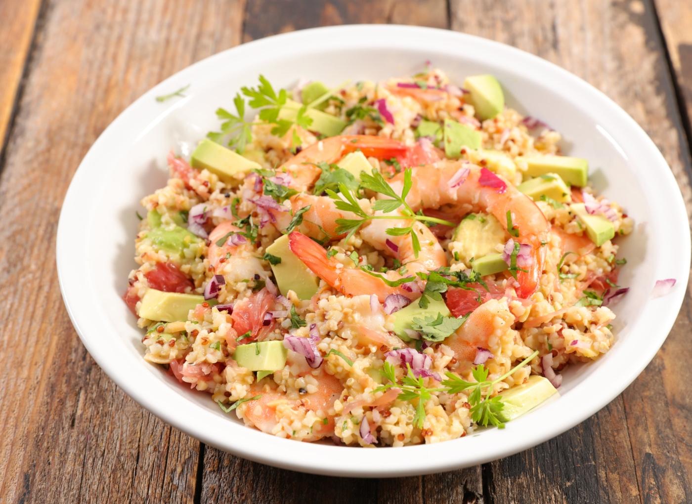 Receitas com quinoa: quinoa com camarão