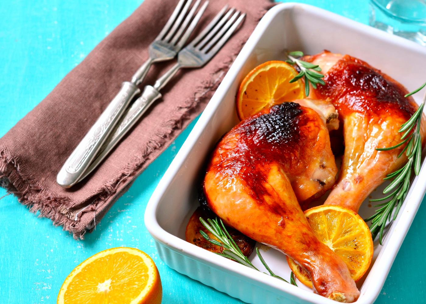 varias receitas com pernas de frango