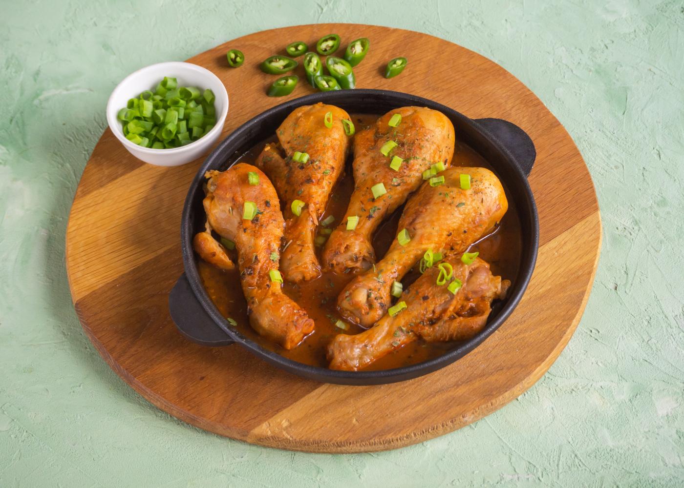 receitas com pernas de frango para almocos e jantares