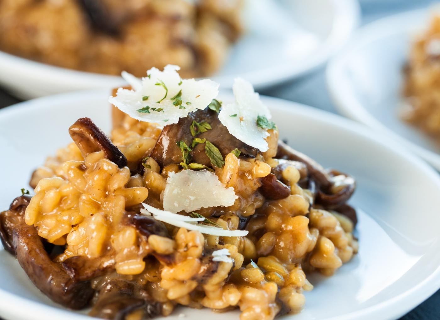 Receitas vegan: risotto de cogumelos