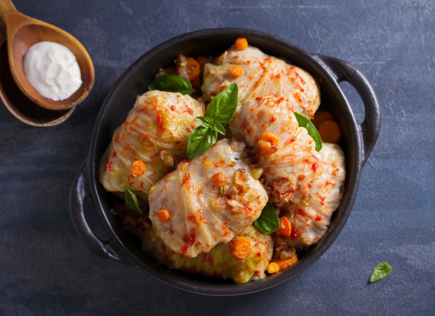 Almoços saudáveis: rolo de vegetais e peru