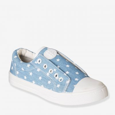 sapatilhas azul claro para menina com estrelas