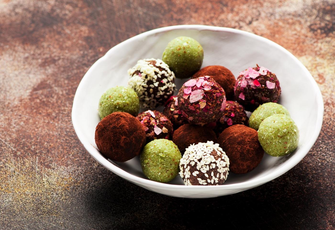 snacks vegetarianos: trufas