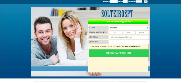 site de encontros SolteirosPT